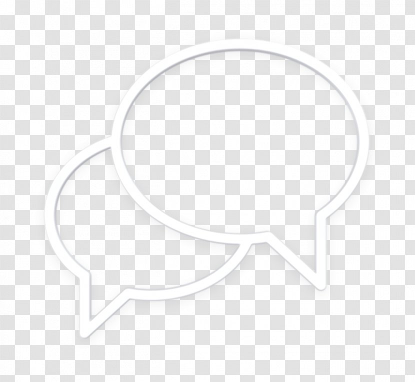 Communication Icon Chat White Transparent Png