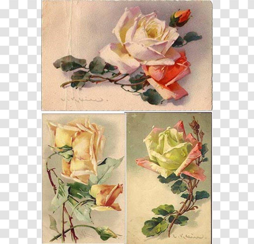 Garden Roses Decoupage Paper Floral Design Flower - Artificial - Vintage Transparent PNG