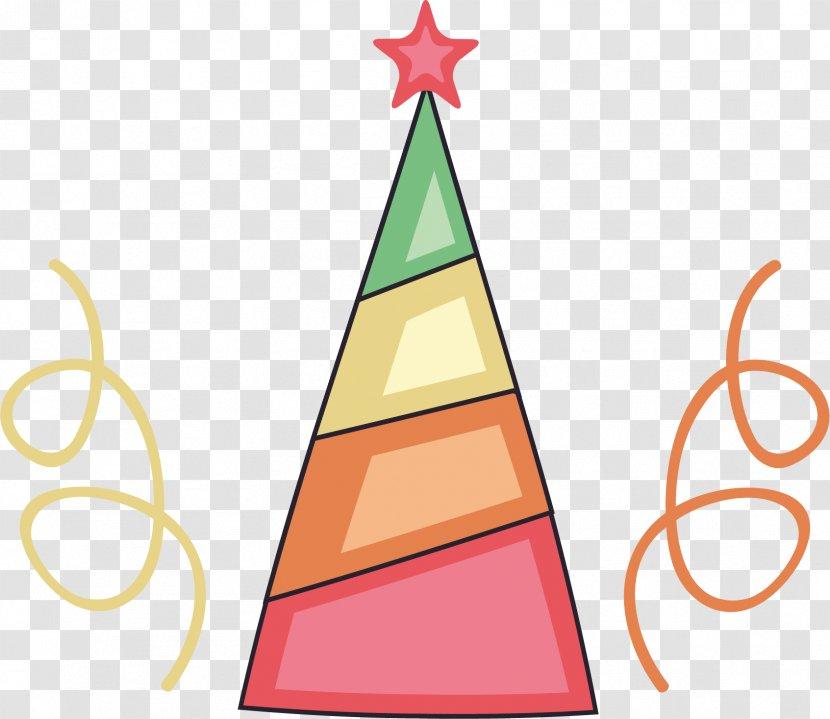 Vector Color Santa Hat - Suit - Christmas Decoration Transparent PNG