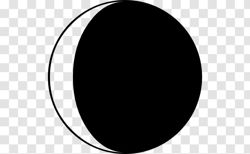 Black And White Monochrome Photography Circle - Moon Phase Transparent PNG