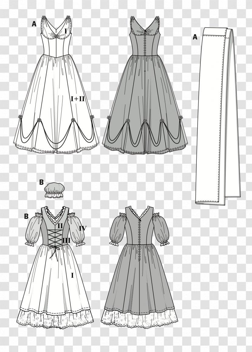 Robe Costume Burda Style Dress Pattern Dance Transparent Png