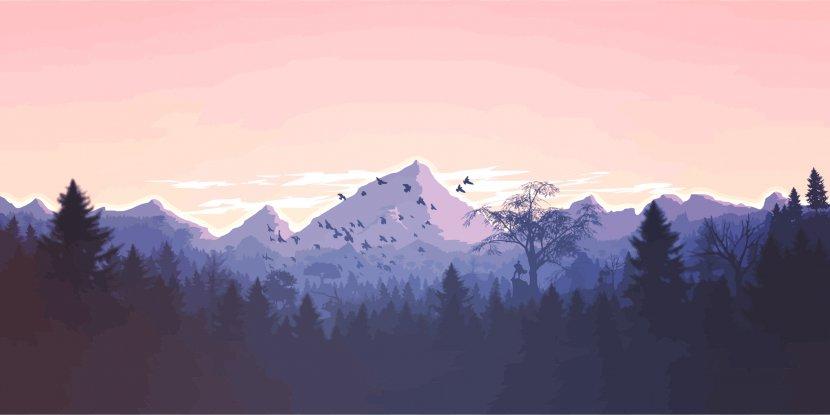 Mountain Desktop Wallpaper 4k Resolution Purple Transparent Png
