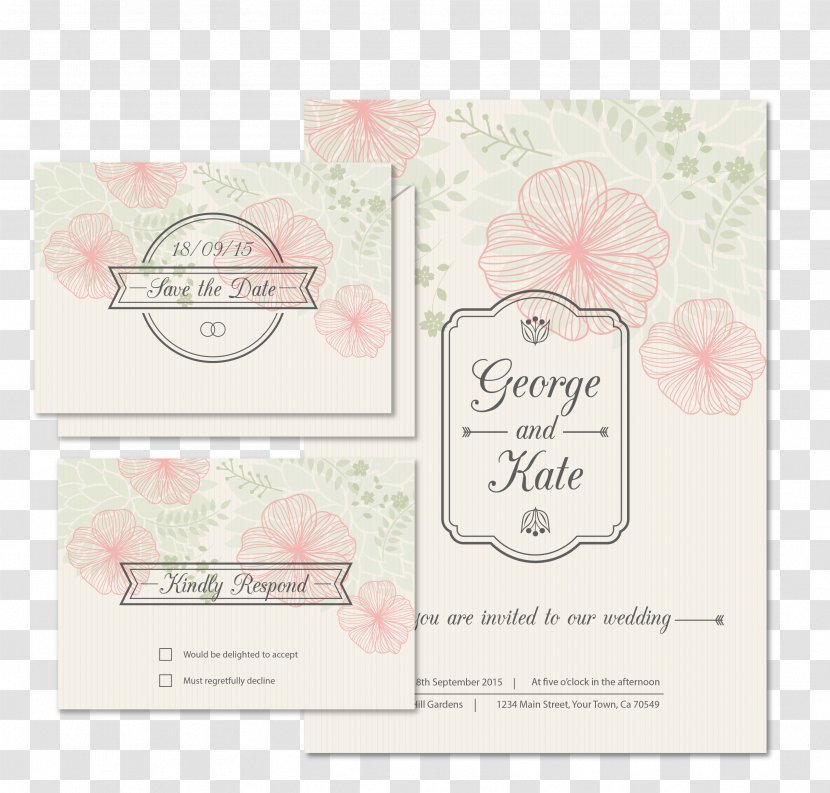 Wedding Invitation Save The Date Product Floral Card Vector Transparent Png