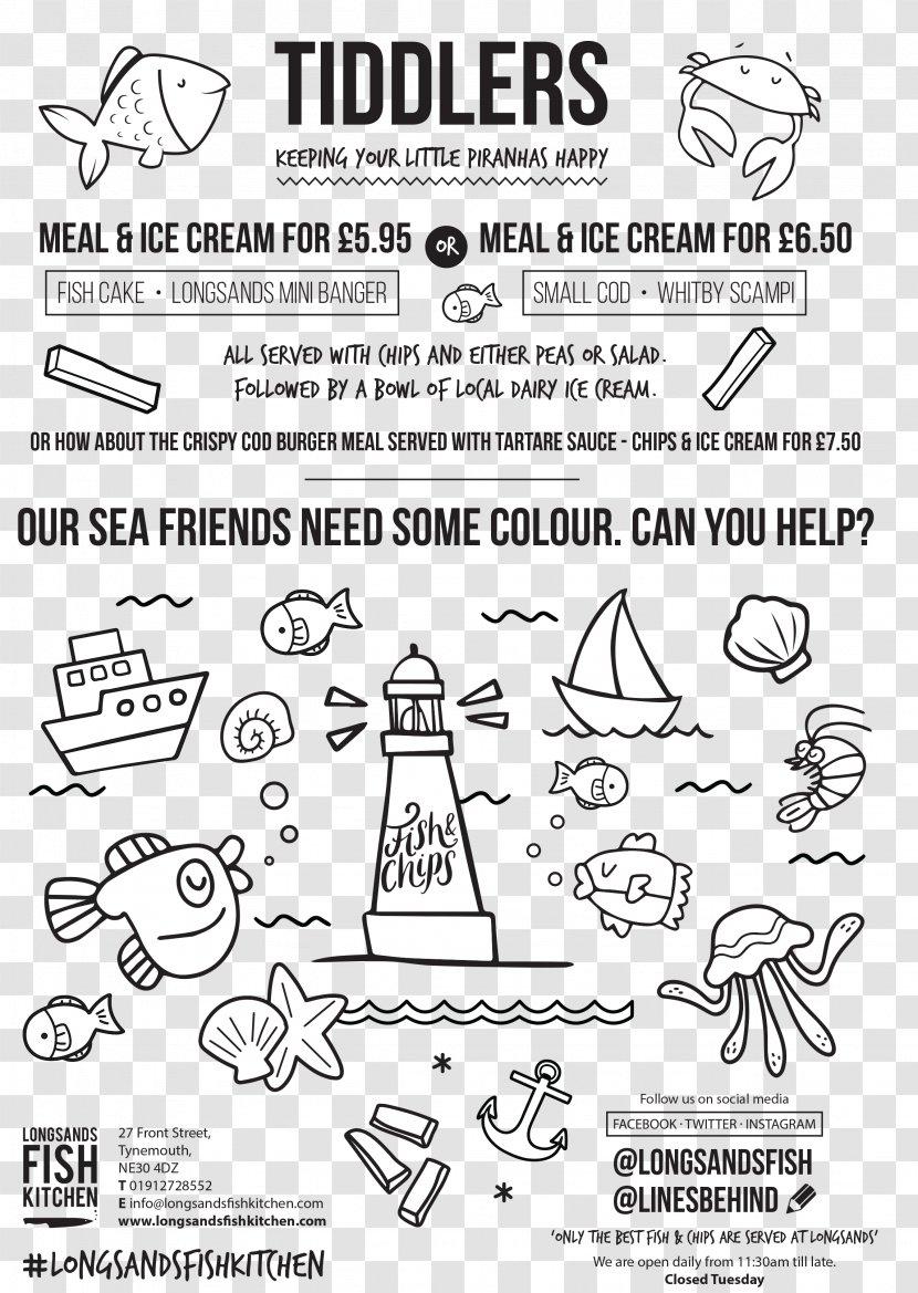 Longsands Fish Kitchen Restaurant Cabinet Menu Drawing Kids Fishing Transparent Png