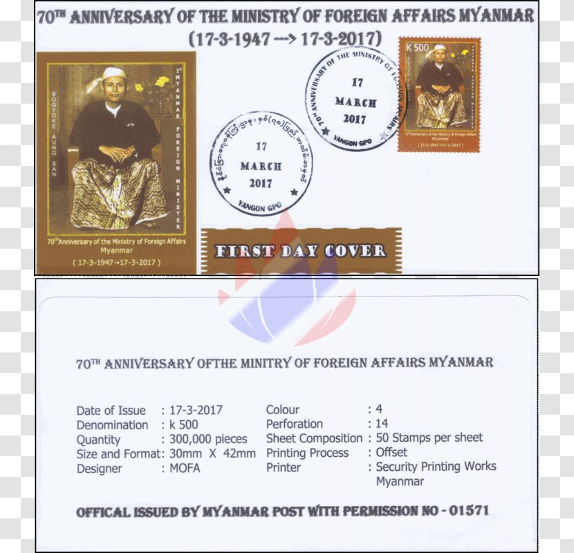 Myanmar Ministry Of Foreign Affairs Maximum Card Paper Postage Stamps Pound Transparent Png