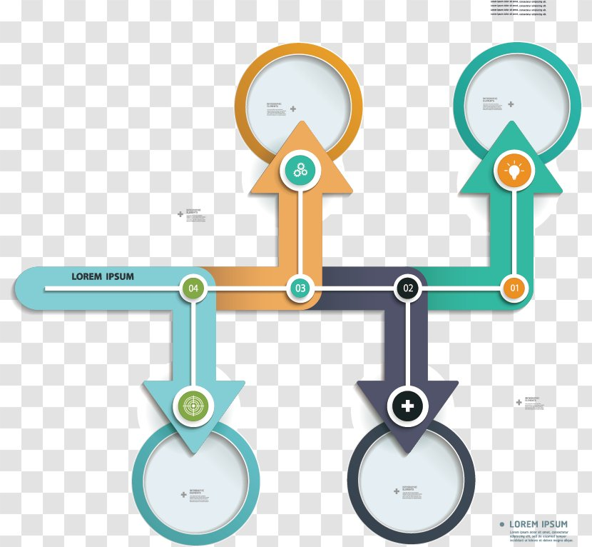 Infographic Arrow Chart Vector Flowchart Transparent Png