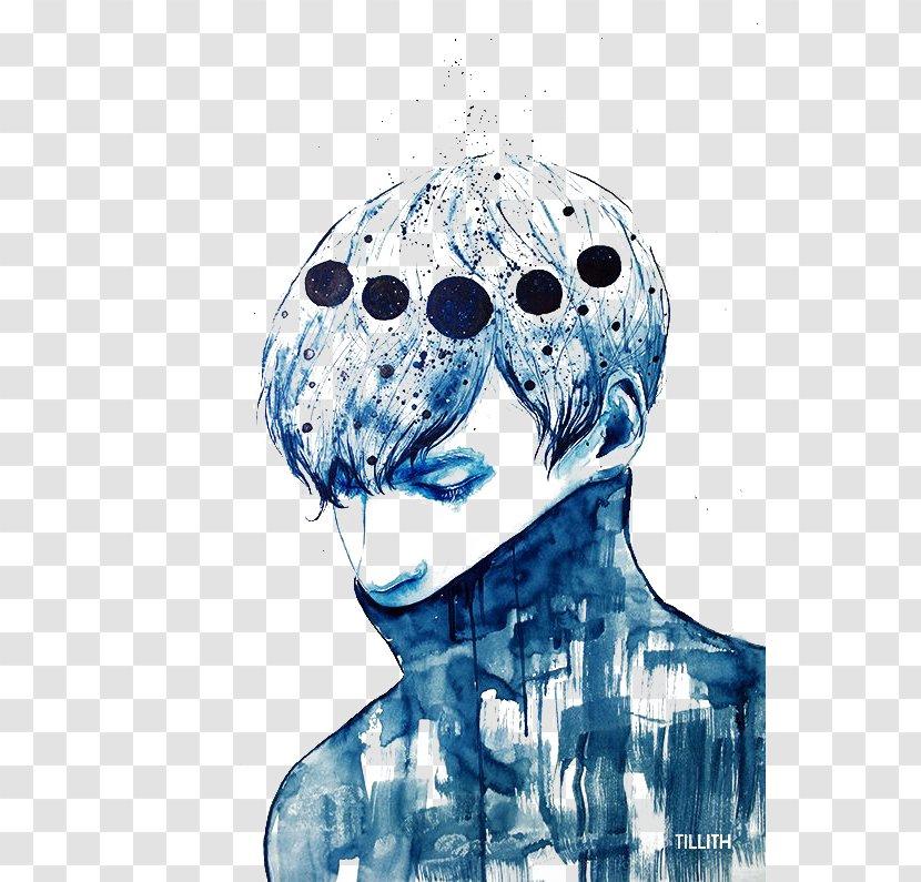 Watercolor Painting Drawing Art Printmaking - Blue Boy Transparent PNG