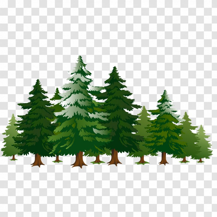 A Row Of Pine Trees Cartoon Heart Transparent Png