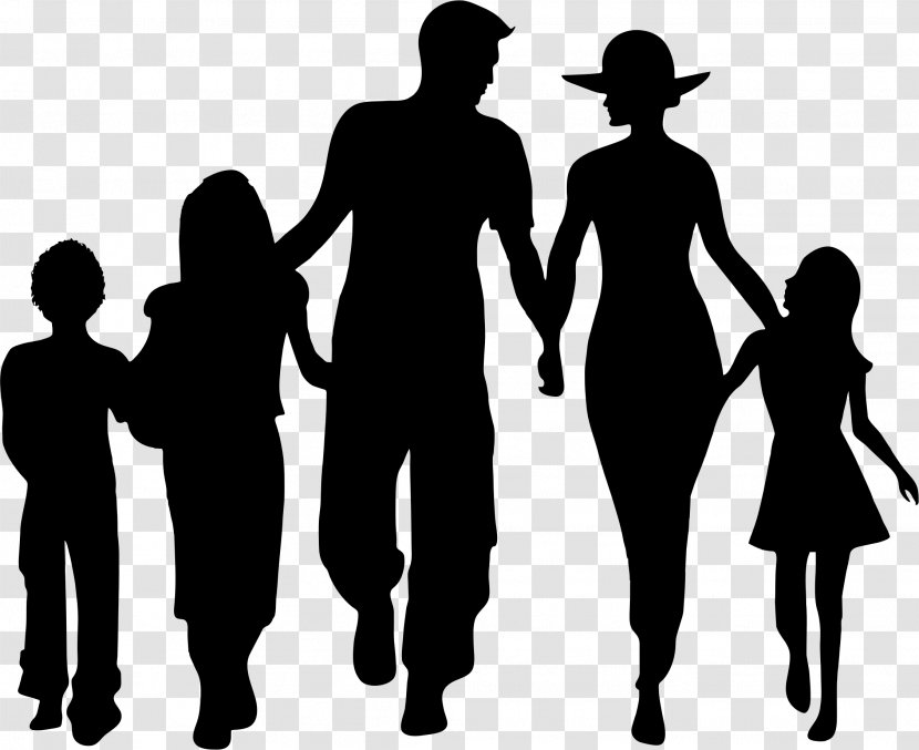 Silhouette Family Clip Art People Clipart Transparent Png