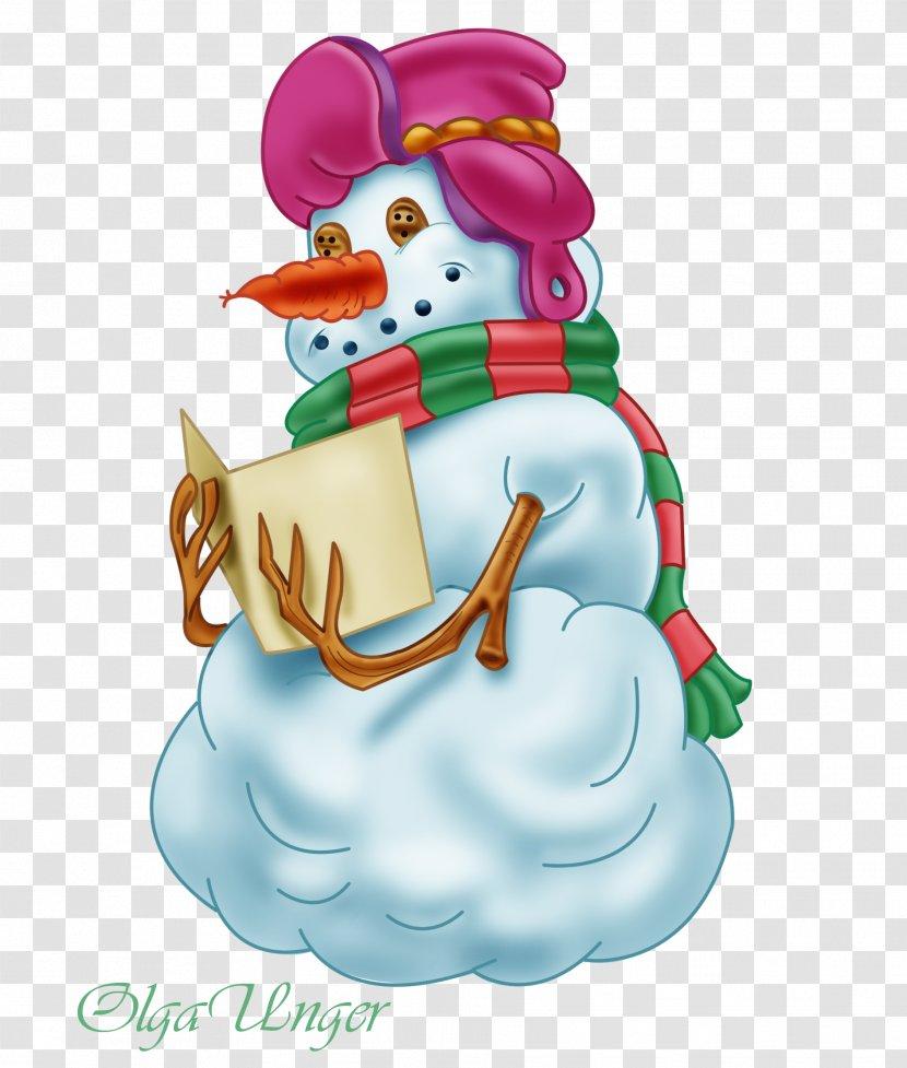 Snowman Winter Christmas Decoration Clip Art - Ansichtkaart Transparent PNG
