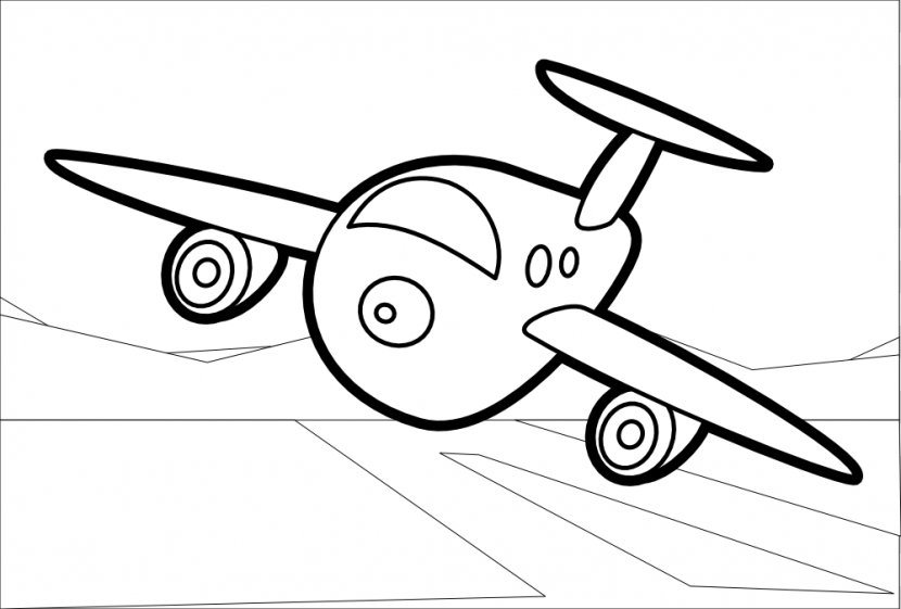 - Airplane Coloring Book Drawing Line Art - Color - Raccoon Graphics  Transparent PNG