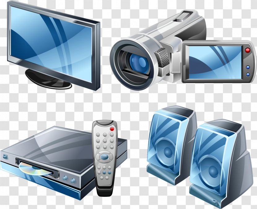 Radio Microphone Television DVD Player - Frame - Home Appliances Transparent PNG