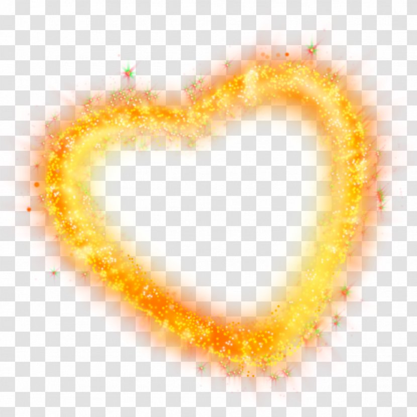Love Heart Clip Art - Yellow - I Transparent PNG