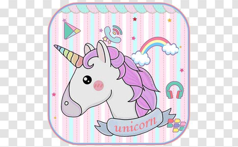 Cute Pony Unicorn Rainbow Android - Animal Figure Transparent PNG