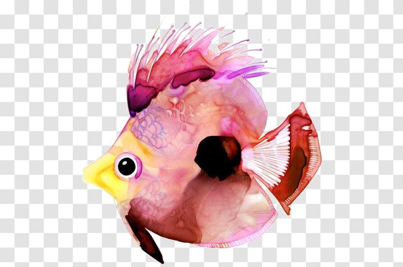 Watercolor Painting Paper Fish Art Transparent PNG