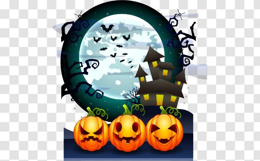 Halloween Jack-o-lantern Poster - Jackolantern - Cute Pumpkin Vector Material Creative Advertising Transparent PNG