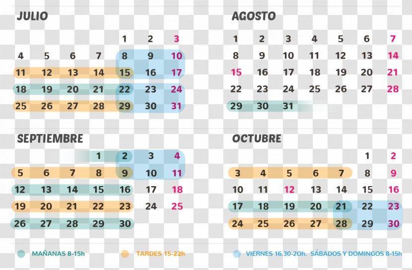 August 0 September Calendar October - July - Curso Transparent PNG