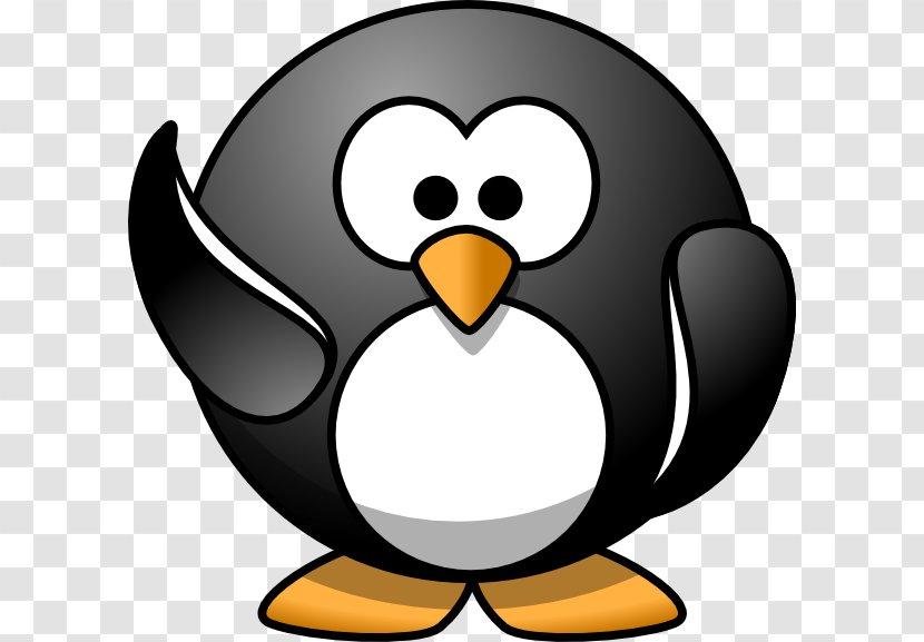 Penguin Cartoon Clip Art - Waving Hi Cliparts Transparent PNG