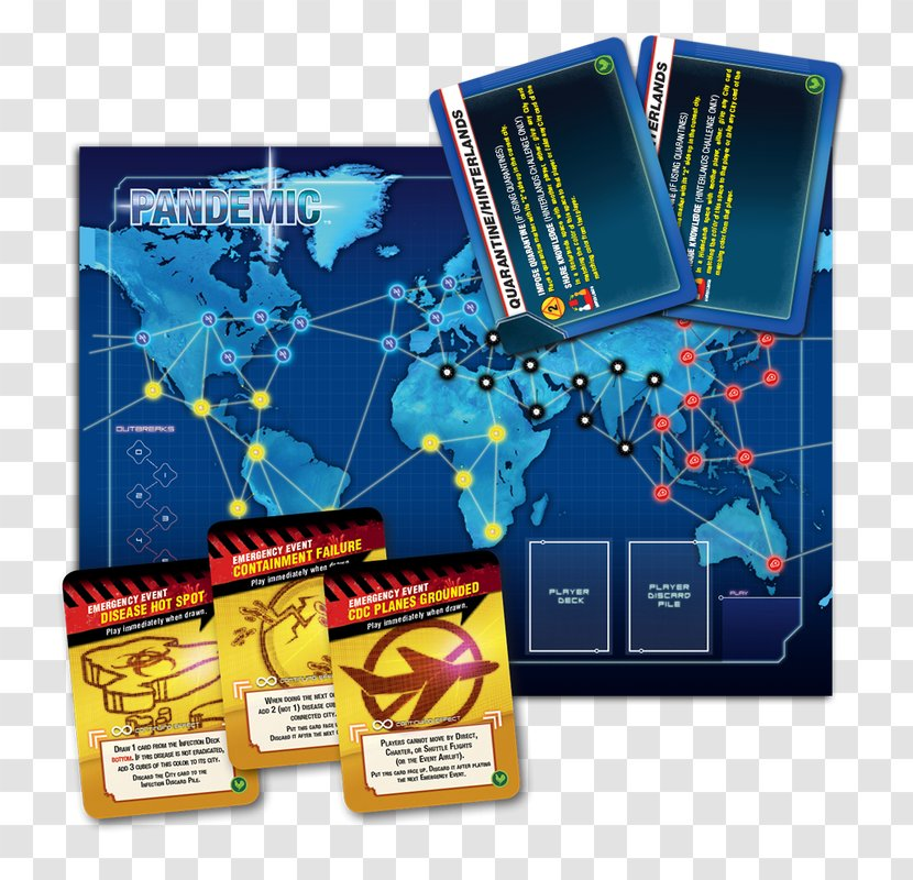 Pandemic: The Board Game Z-Man Games State Of Emergency Expansion - Zman Pandemic - Crisis Team Transparent PNG