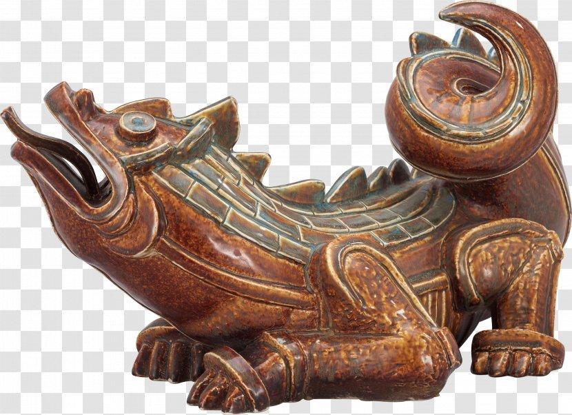 Ceramic Art Sculpture Statue - Dragon Animal Material Free To Pull Transparent PNG