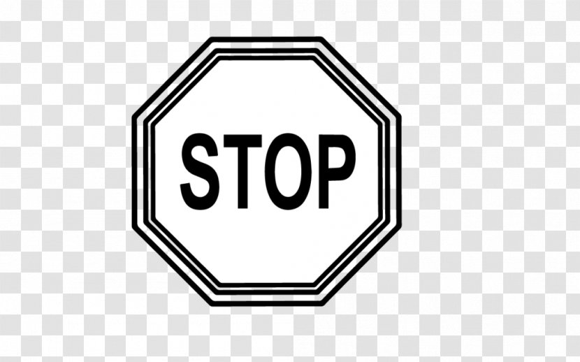 Stop Sign Clip Art Black And White Transparent Png