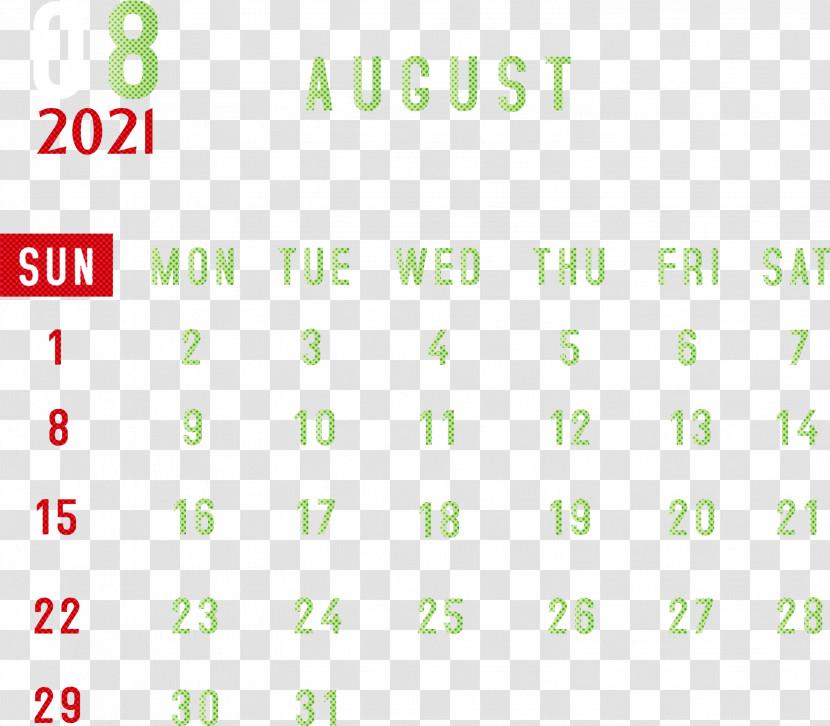August 2021 Printable Calendar 2021 Monthly Calendar Printable 2021 Monthly Calendar Template Transparent PNG