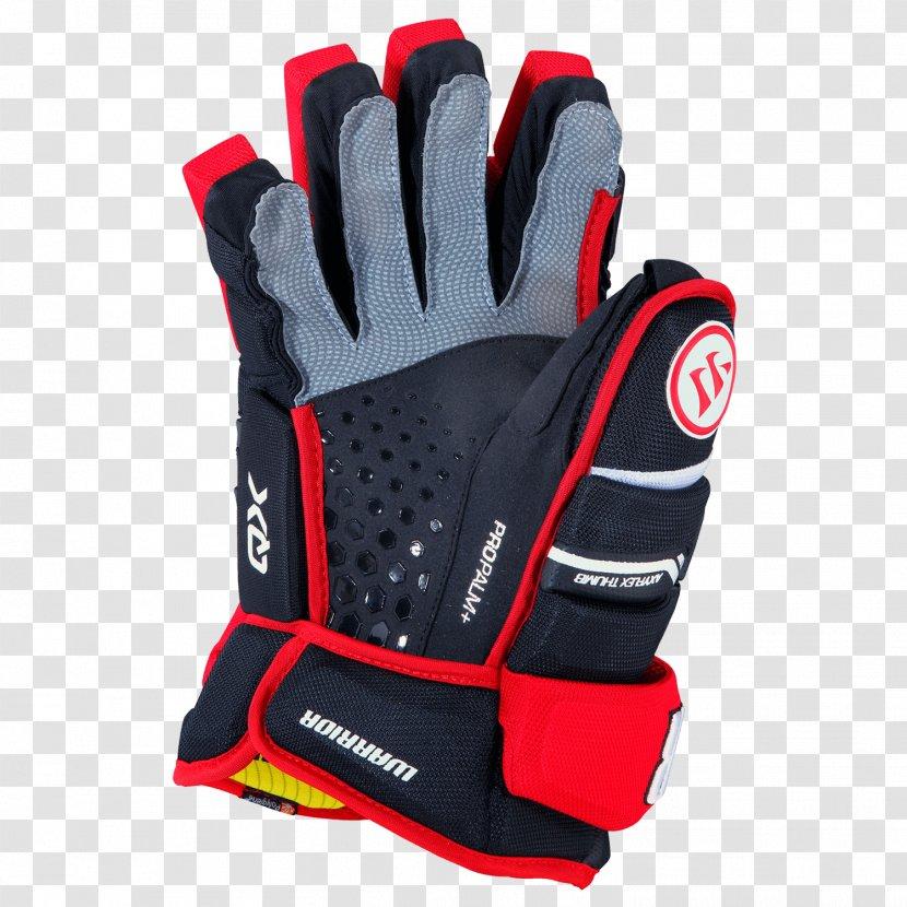 Warrior Alpha QX Hockey Gloves Pro Senior Lacrosse - Glove - Red Transparent PNG