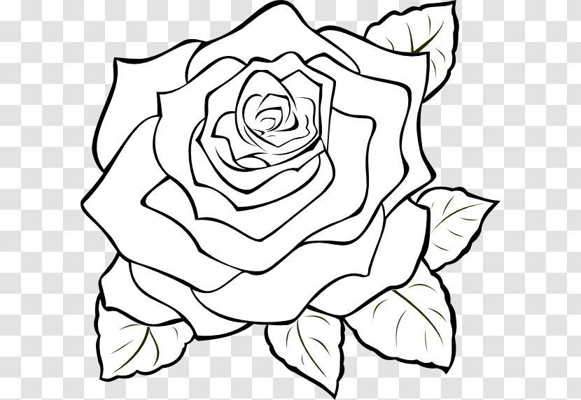 Black Rose White Clip Art Line Tribal Bunga Mawar Transparent Png