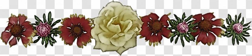 Flower Border Flower Background Floral Line Transparent PNG