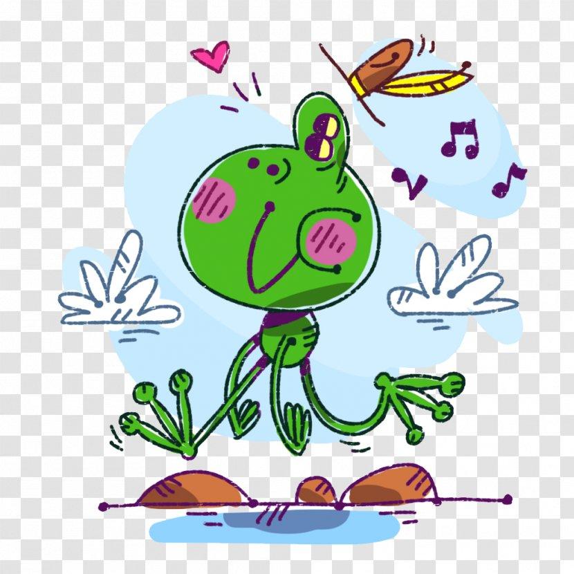 Cartoon Illustration Greeting Card Green Ant Humming Fig Transparent Png