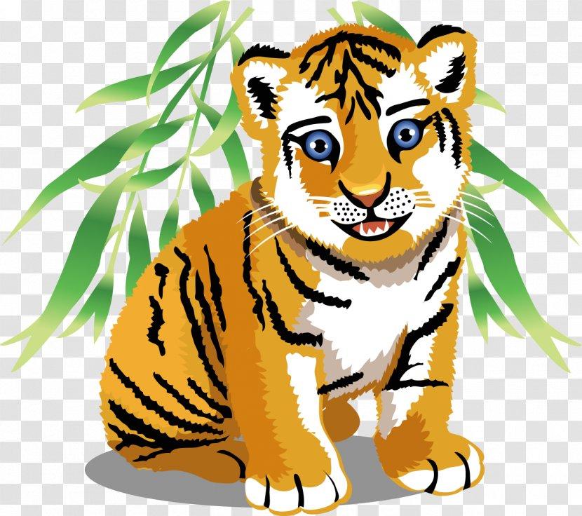 Baby Jungle Animals Drawing Clip Art - Tiger Transparent PNG