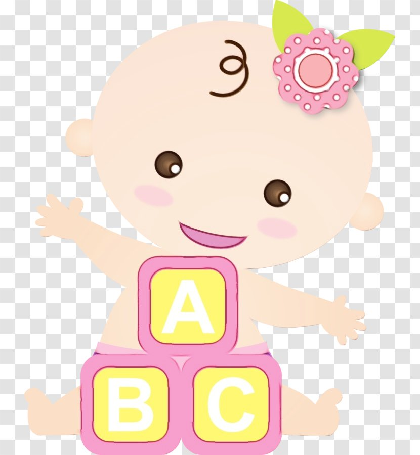 Baby Shower Cartoon Pink Transparent Png