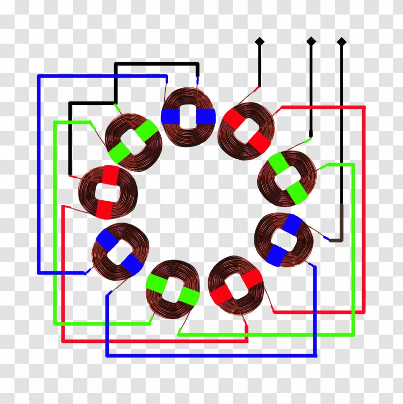 three-phase electric power wiring diagram single-phase stator  electromagnetic coil - schematic - windmill transparent png  pnghut