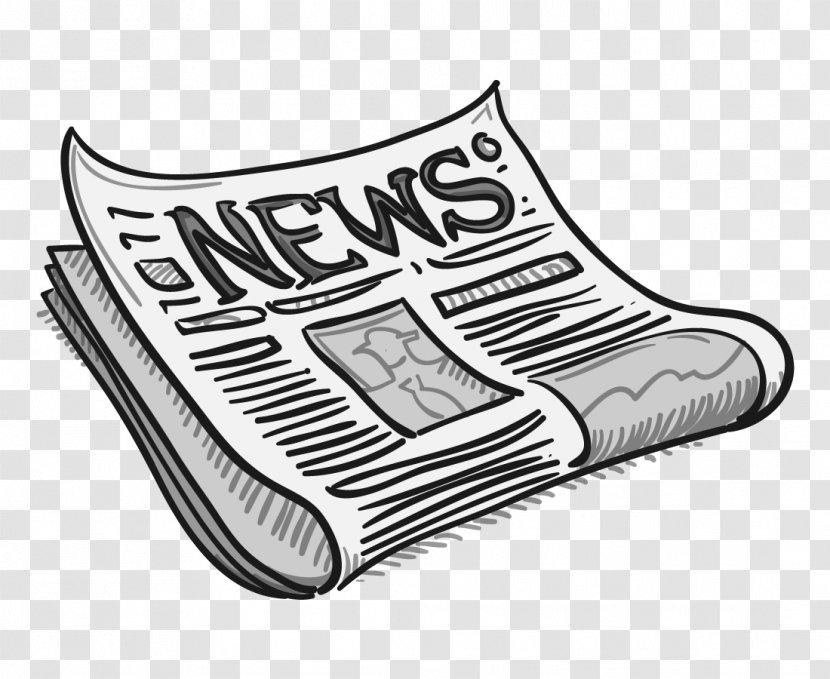 Newspaper Editorial Cartoon Clip Art Black Headline Transparent Png