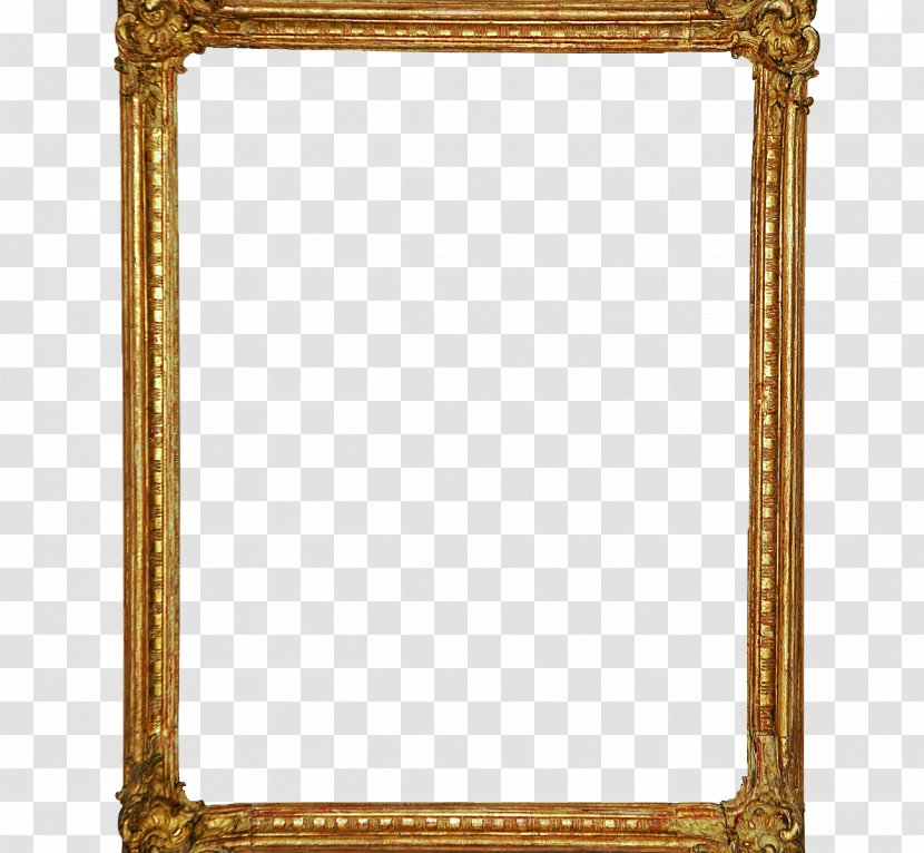Picture Frames Mirror Glass Gold Rectangle Transparent Png