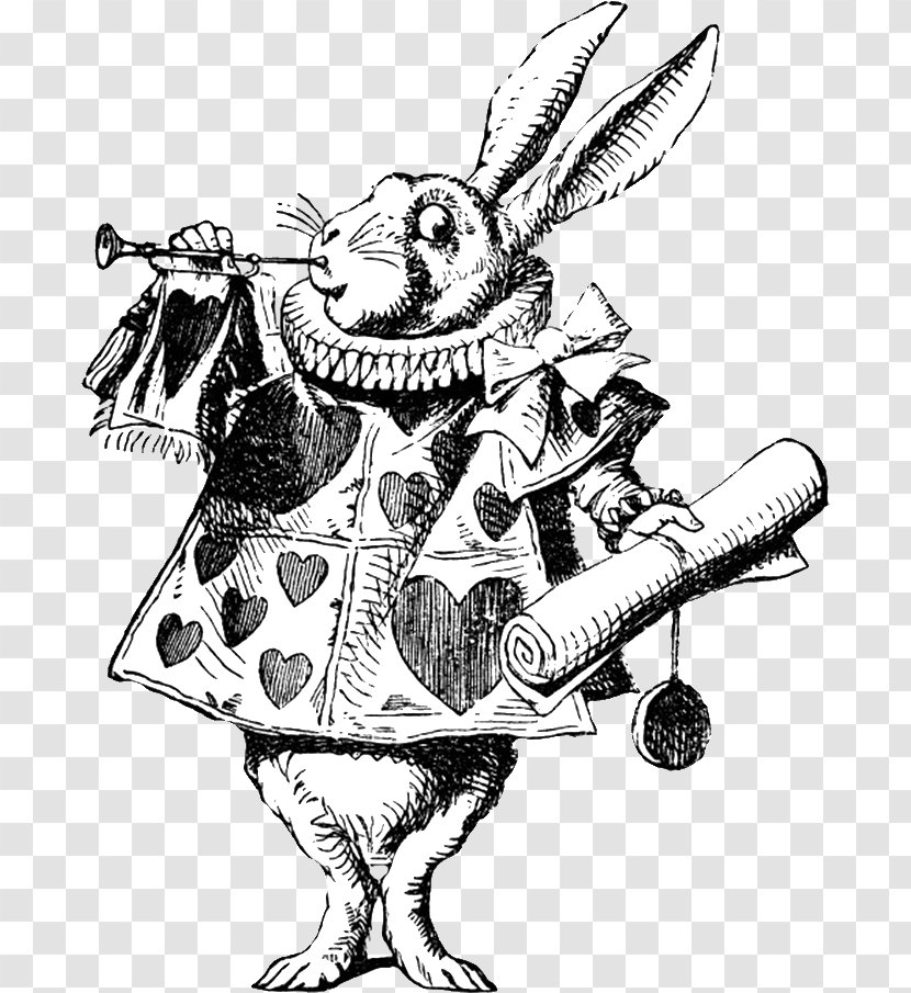 White Rabbit Alice S Adventures In Wonderland Mad Hatter March Hare Art Transparent Png