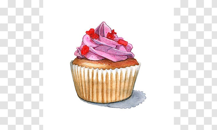 Cupcakes And Muffins Sponge Cake Drawing - Line Art Transparent PNG
