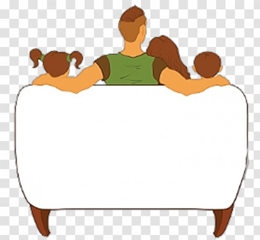 Television Family Cartoon Clip Art - One Watching TV Illustrations Transparent PNG