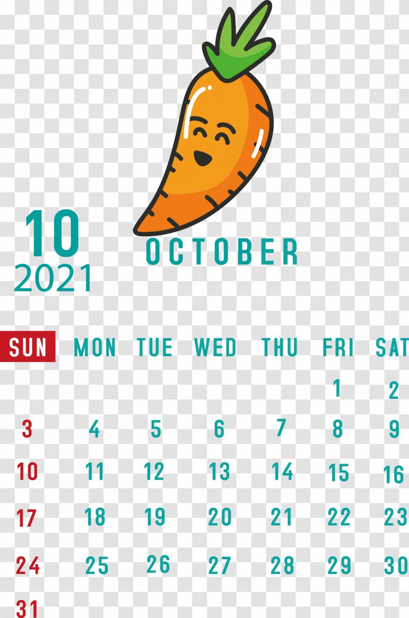 October 2021 Printable Calendar October 2021 Calendar Transparent PNG