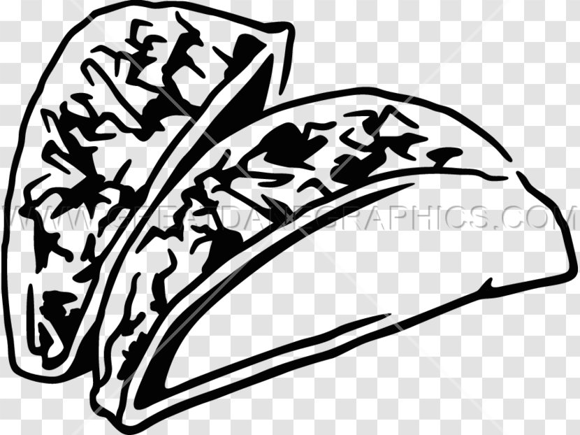 Taco Mexican Cuisine Black And White Burrito Clip Art Monochrome Salad Transparent Png