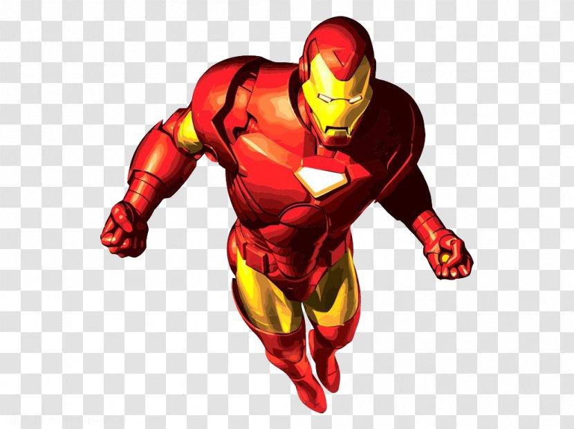 Iron Man Cartoon Superhero Clip Art The Flying Transparent Png