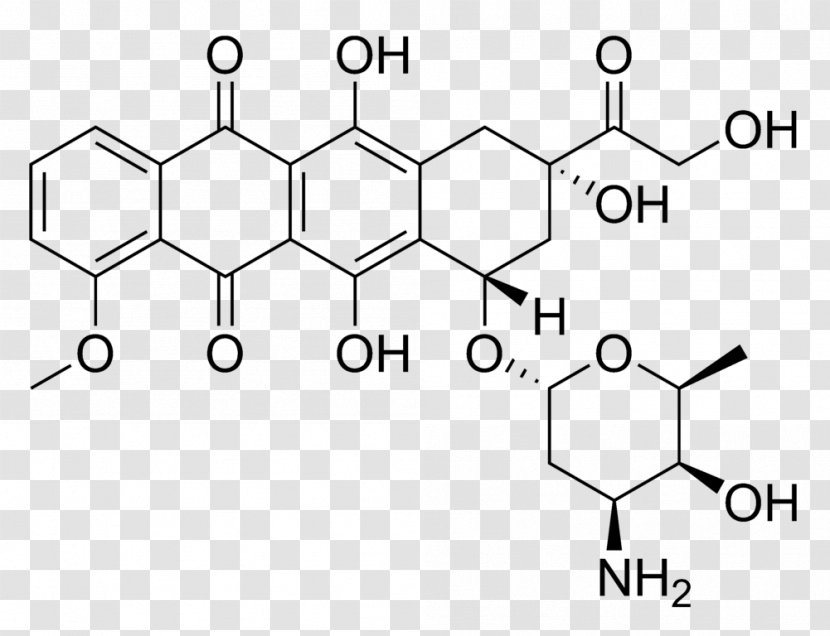 Doxorubicin Structure Chemotherapy Cancer Chemistry - Silhouette - Organization Transparent PNG