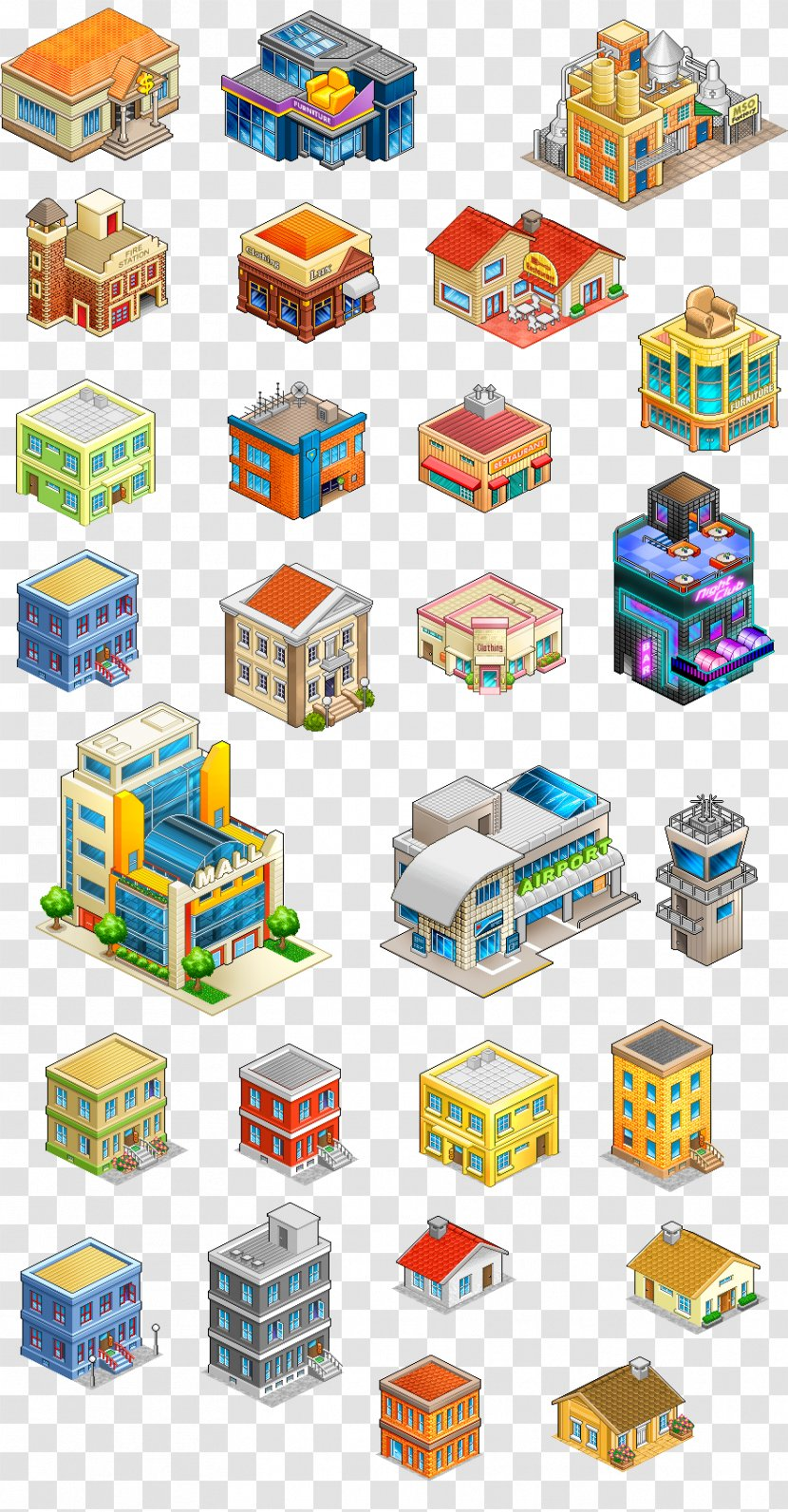 Building Isometric Projection Graphics In Video Games And Pixel Art Game Transparent Png