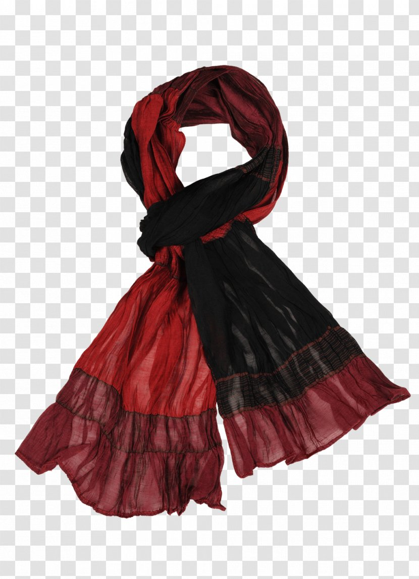 Scarf Silk Grey Color Red - Lurex Transparent PNG