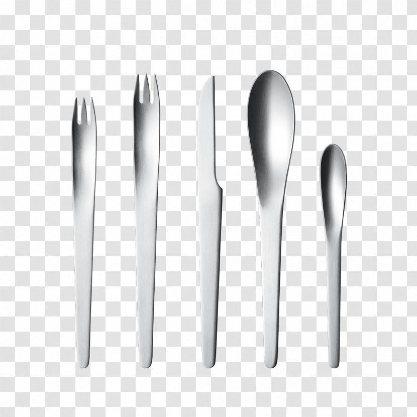 Fork Cutlery Household Silver Stainless Steel Dessert Spoon Transparent PNG