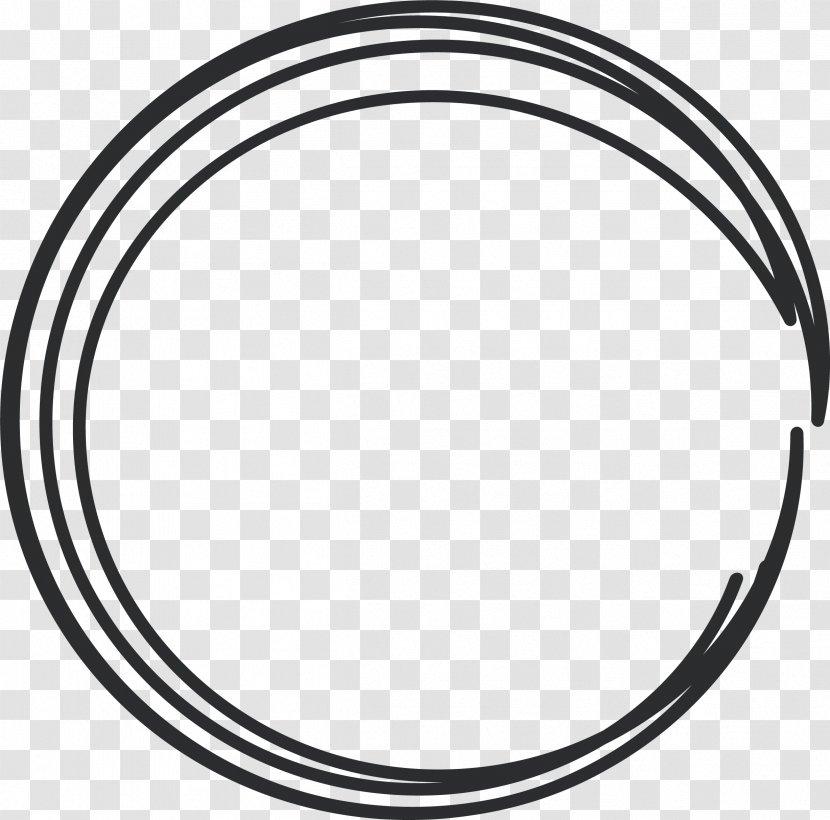 Black And White Circle Rim Area Pattern - Line Header Box Transparent PNG