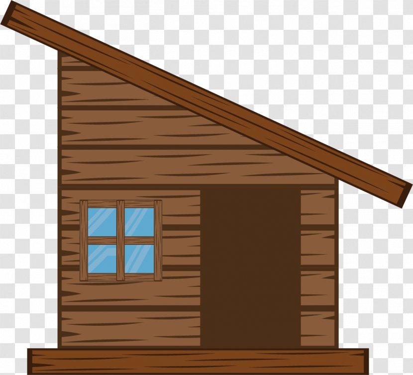 Log Cabin Cottage House Cartoon A Rough Cottage Transparent Png