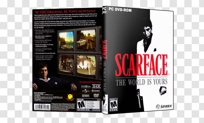 Scarface The World Is Yours Playstation 2 Video Games 3 Brand Xbox Transparent Png