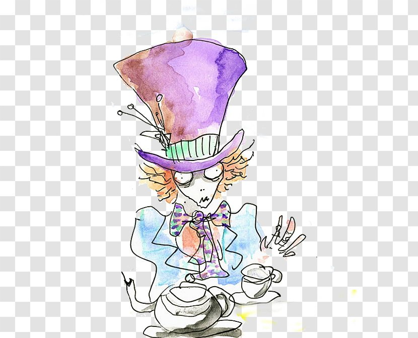 The Mad Hatter Alice In Wonderland Drawing Artist Film Costume Hat Alices Icon Transparent Png