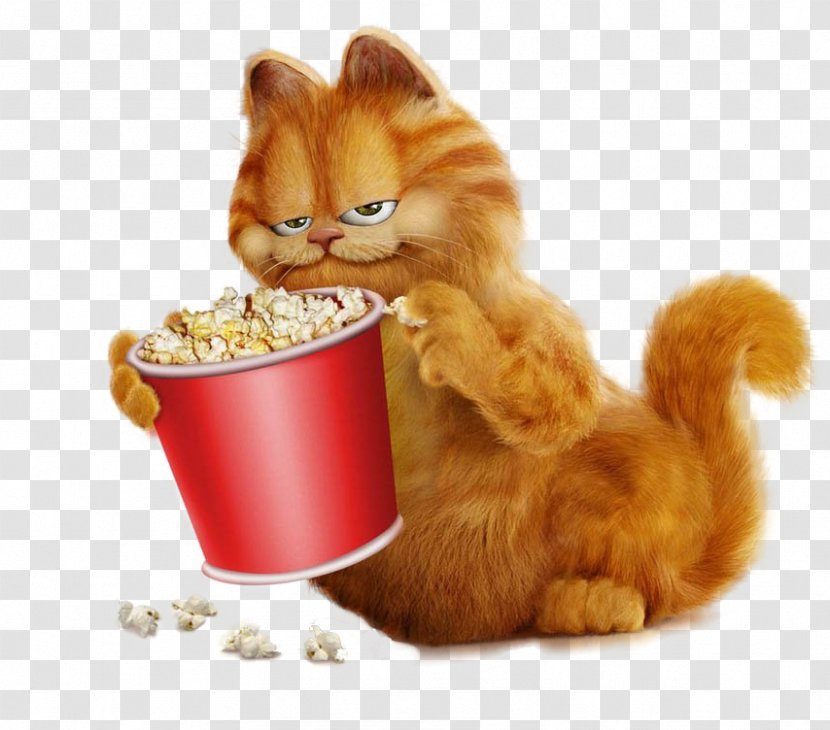 Garfield Popcorn Clip Art Drawing With Free Clipart Transparent Png